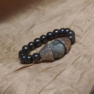 Magnetic Hematite Stretch Ring